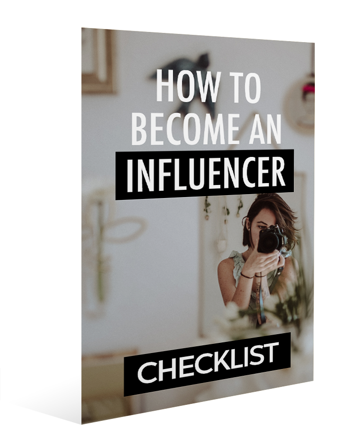 how to become an influencer - checklist
