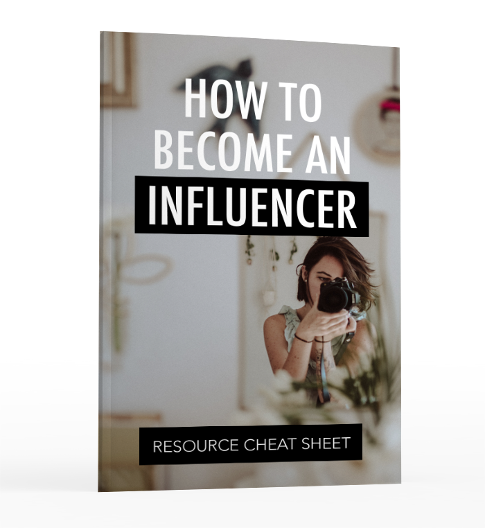 how to become an influencer - cheat sheet